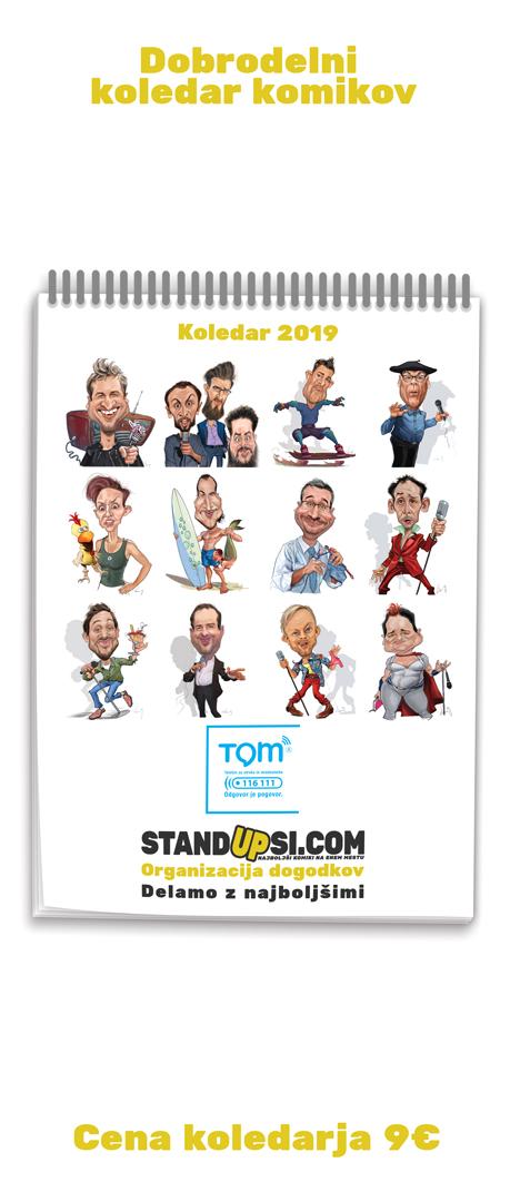 Dobrodelni koledar komikov za TOM telefon