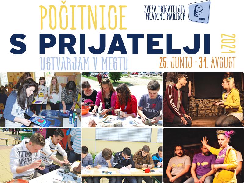Počitnice s prijatelji 2021 – Prileti na Pohorje! in delavnice za mlade